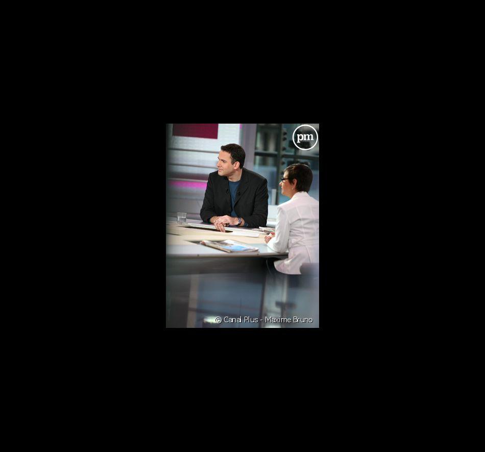 """Bruce Toussaint - """"La Matinale"""" sur Canal +."""