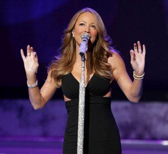 Mariah Carey sur le plateau d'American Idol