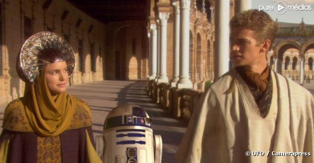 """Natalie Portman et Hayden Christensen dans """"Star Wars épisode 2 : l'attaque des clones"""""""