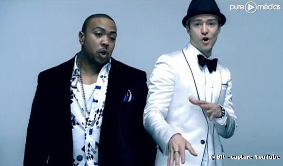 "Timbaland et Justin Timberlake dans ""Carry Out"""