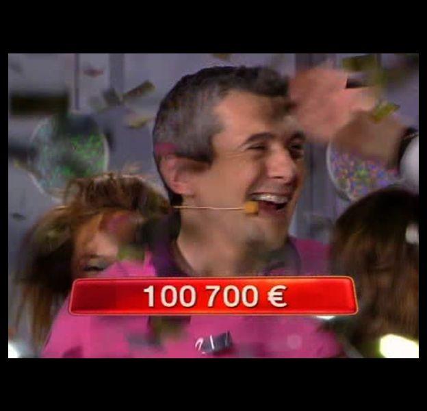 Pascal a gagné 100.000 euros sur France 2 le 19 mars 2010