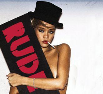 Rihanna sur la pochette de 'Rude Boy'