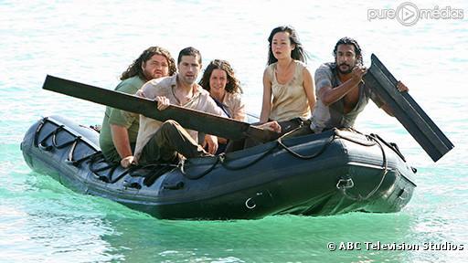 "Jorge Garcia, Matthew Fox, Evangeline Lilly, Yunjin Kim et Naveen Andrews dans ""Lost"""