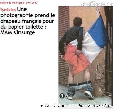 """Le cliché exposé à Nice et relayé par le quotidien """"Midi Libre"""""""