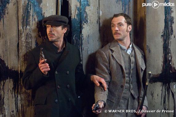 """Robert Downey, Jr. et Jude Law dans """"Sherlock Holmes"""""""