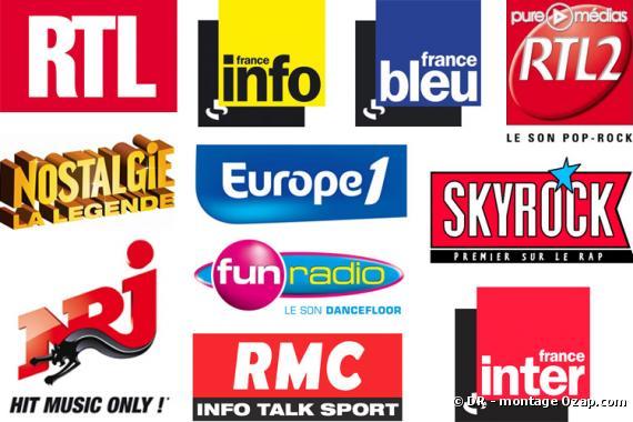 Les logos des radios françaises
