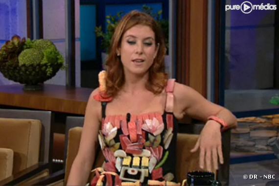Kate Walsh et sa robe sushi chez Jay Leno