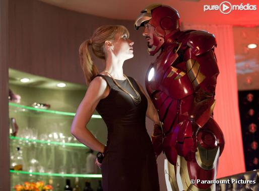 "Gwyneth Paltrow et Robert Downey, Jr. dans ""Iron Man 2"""