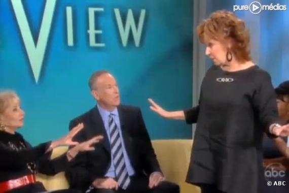 """Barbara Walters, Bill O'Reilly et Joy Behar sur le plateau de """"The View"""""""