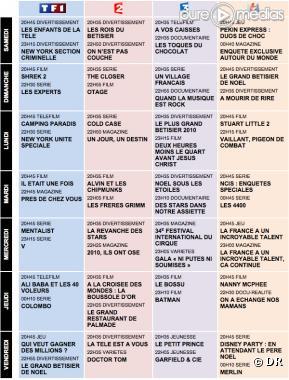 programmes teles
