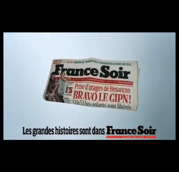 Campagne de communication du quotidien France-Soir (janvier 2010)