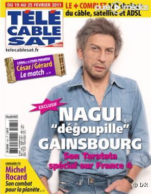 """Nagui, à la Une de """"Télé Câble Sat, hebdo"""" (14 février 2011)"""