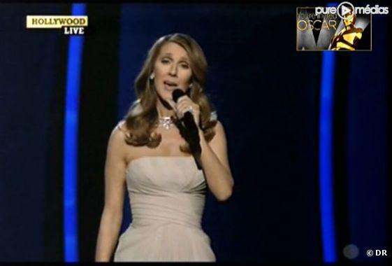 Céline Dion, le 27 février 2011 lors de la cérémonie des Oscars
