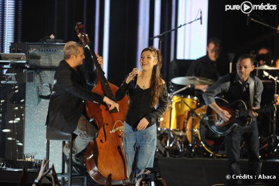 Zaz aux Victoires de la Musique le 1er mars 2011.