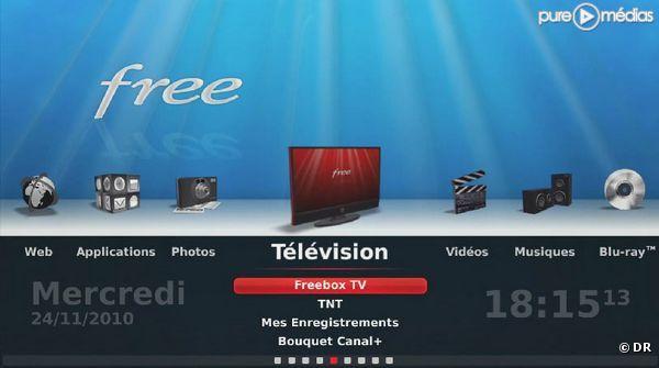 Interface freebox revolution