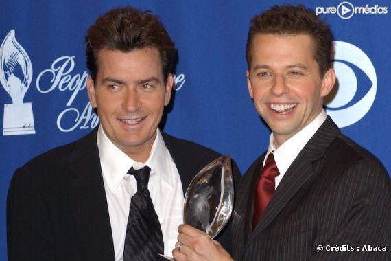 Charlie Sheen et Jon Cryer en 2004