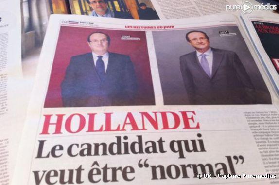"""France-Soir ose le comparatif """"avant-après"""" dans son édition du 31 mars 2011"""