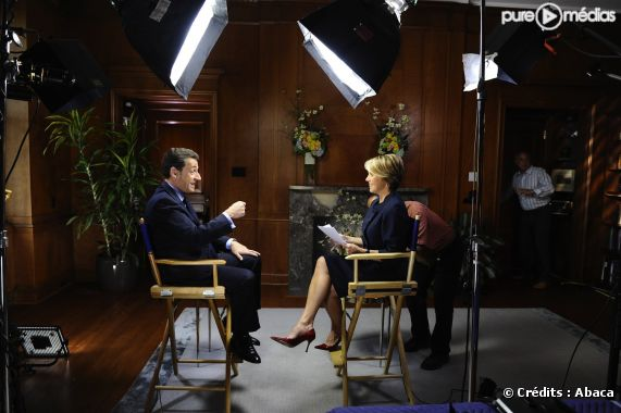 Interview de Nicolas Sarkozy par Katie Couric pour le CBS Evening News