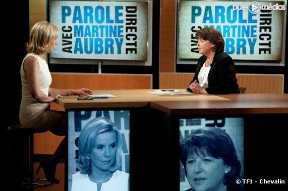 Martine Aubry invitée de Laurence Ferrari, le 16 juin 2011 sur TF1