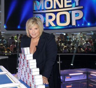 Laurence Boccolini sur le plateau de 'Money Drop'.