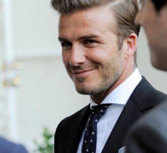 Le footballeur David Beckham.