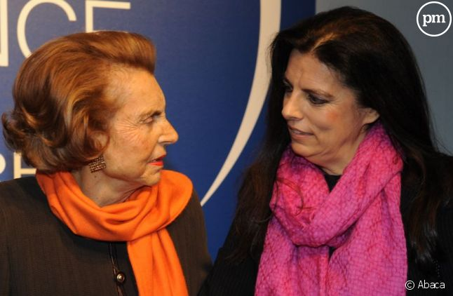 Liliane Bettencourt et sa fille