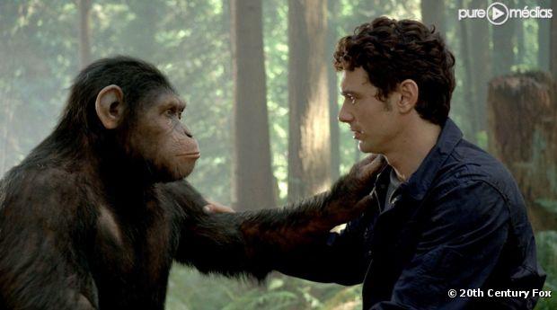 """James Franco dans """"La Planète des Singes : les origines"""""""