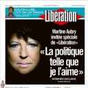 """Martine Aubry à la Une de """"Libération"""" le mardi 20 septembre 2011"""