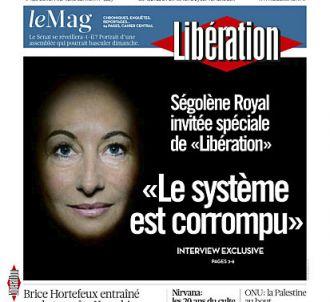 Ségolène Royal à la Une de 'Libération' le samedi 24...