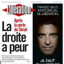 """Manuel Valls à la Une de """"Libération"""" le mardi 27 septembre 2011"""