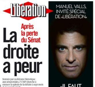 Manuel Valls à la Une de 'Libération' le mardi 27...