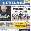 La Une du Figaro.