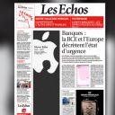 La Une du quotidien économique Les Echos.