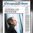 La Une du Chicago Tribune.