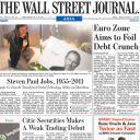 La Une du Wall Street Journal.