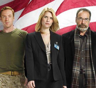 Damian Lewis, Claire Danes et Mandy Patinkin dans 'Homeland'
