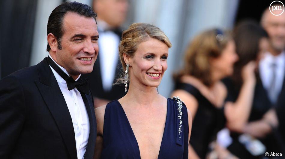 Jean Dujardin et Alexandra Lamy sur le tapis rouge des Oscars 2012