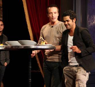 Stéphane Rotenberg et Jamel Debbouze dans 'Top Chef' 2012