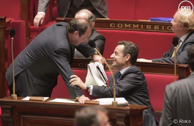 François Hollande et Nicolas Sarkozy, en octobre 2005.