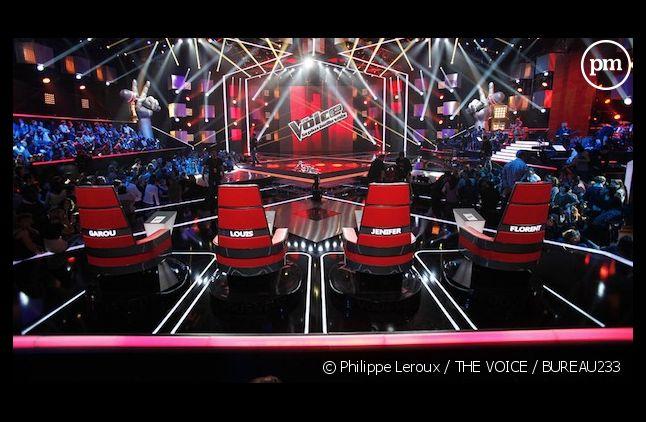 """Le plateau de """"The Voice, la plus belle voix"""" sur TF1"""