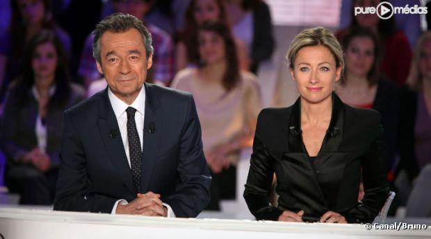 Michel Denisot et Anne-Sophie Lapix