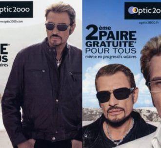 Les publicités 'Optic 2000' avec Johnny Hallyday.