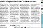 """Le journal """"Le Monde"""" conseille à Valérie Trierweiler de lâcher Twitter et son job de journaliste"""