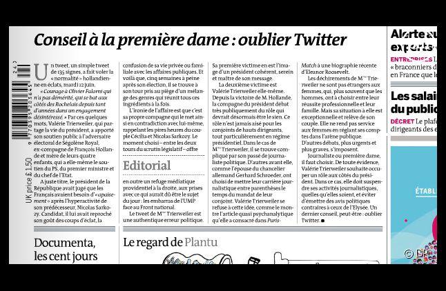 """""""Le Monde"""" daté du 14 juin 2012."""