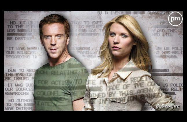 """Damian Lewis et Claire Danes de la série """"Homeland"""""""