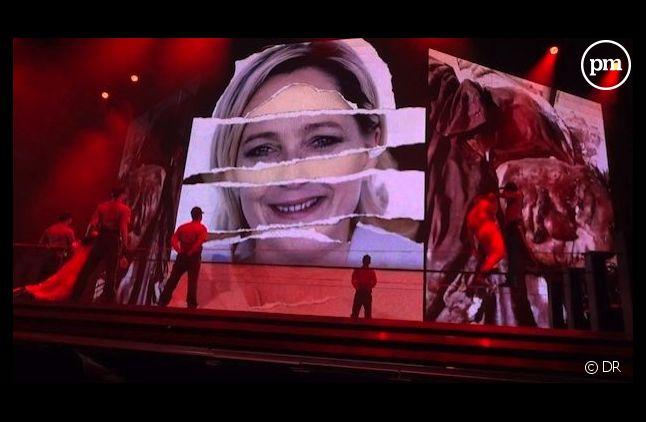 Vidéo sur Marine Le Pen diffusée pendant le concert de Madonna