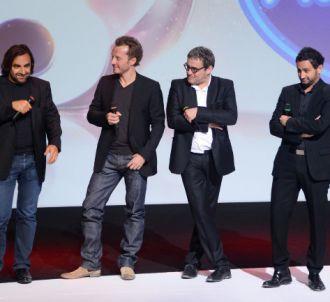 Le nouveau jury de 'Nouvelle Star', lors du lancement de...