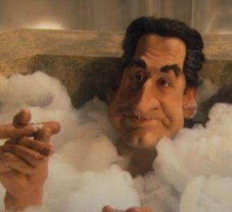 Nicolas Sarkozy aux 'Guignols de l'info'.