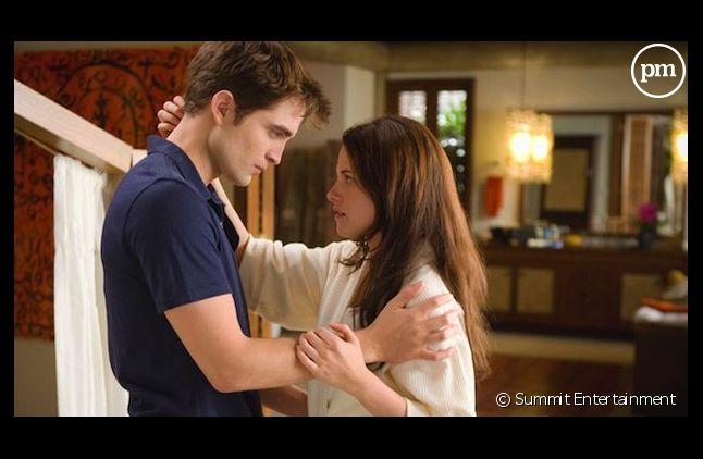 """Robert Pattinson et Kristen Stewart dans """"Twilight"""""""