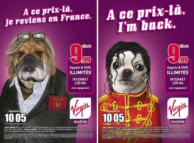 Dans une publicité, Virgin Mobile se moque du départ en Russie de Gérard Depardieu.